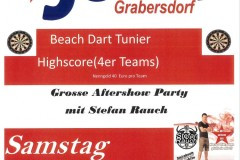 Beach Dart Tunier Highscore (4er Teams)
